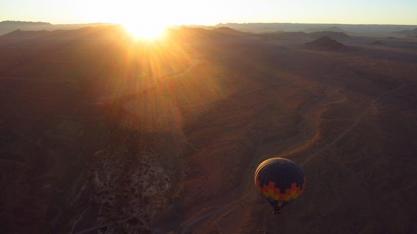 Watching the sunrise over the Namib Desert - Namibia
