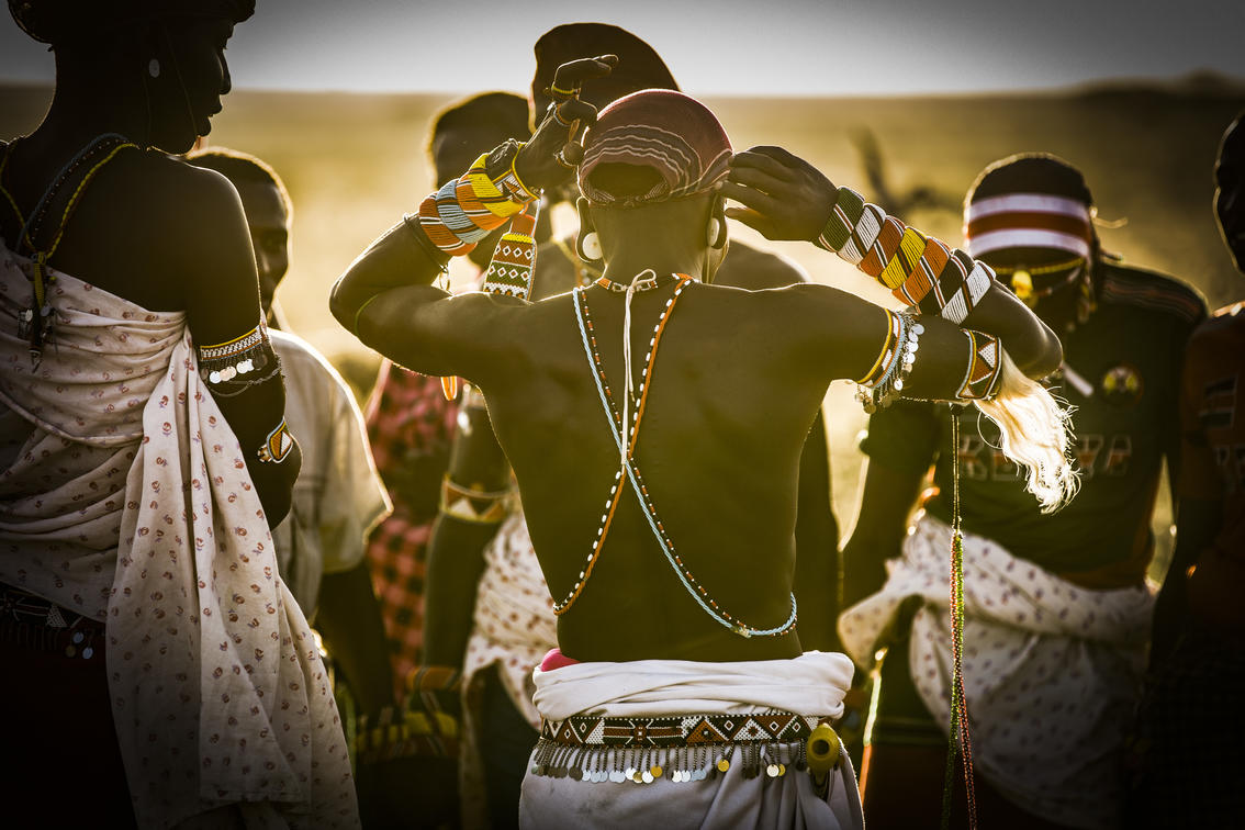 African tribe in traditional clothing - Kenya - Sasiani African Safaris