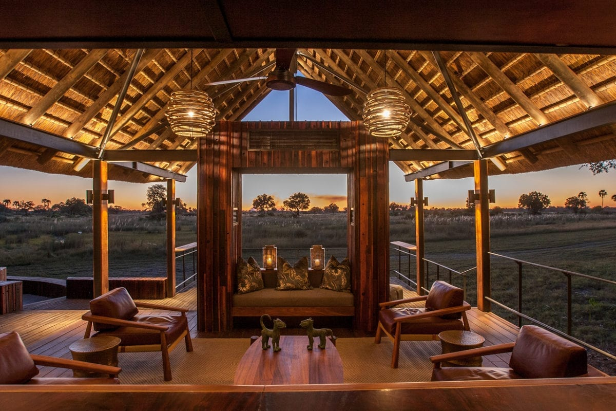 African Safari - Chitabe Camp looking out from the bar - Botswana