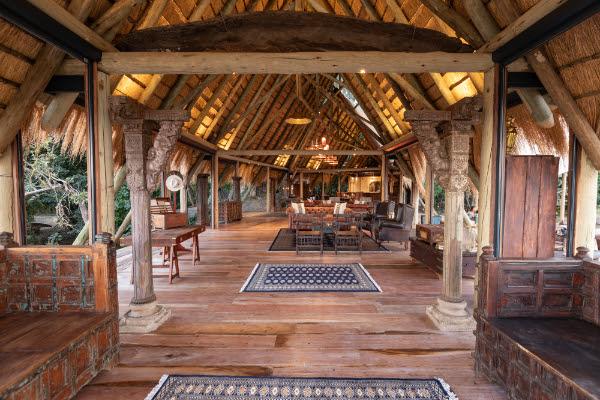 The newly renovated Selinda Camp main lodge - Okavango Delta Botswana