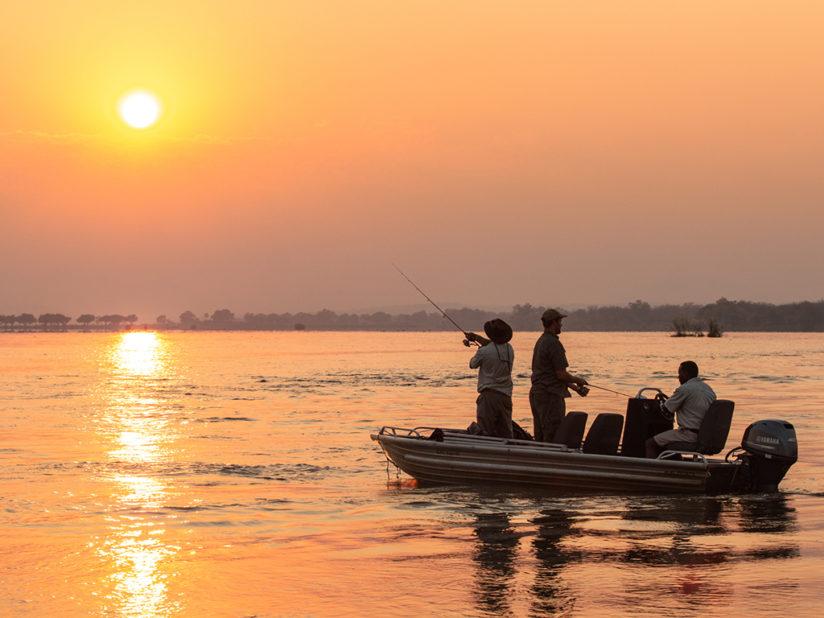 Fishing the mighty Zambezi at Sunset - Zimbabwe